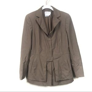 Worth brown blazer jacket wool blend  14